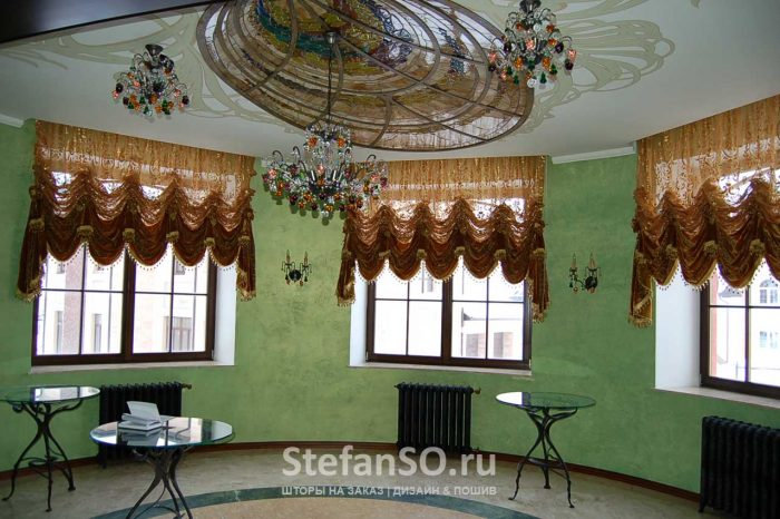 Австрийские шторы в доме Миллениум парк.