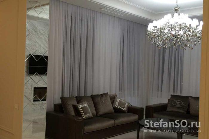 Кристально белый в гостиной