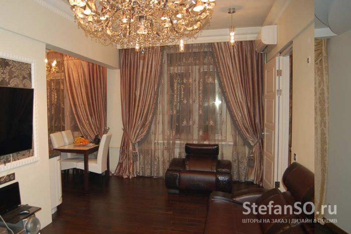 Квартира на Кутузовском гостиная
