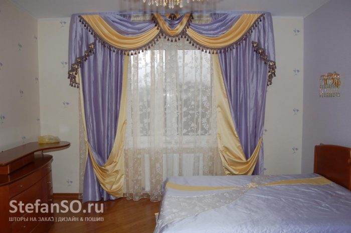 Спальная в лавандовых оттенках. Метро Динамо